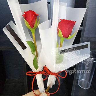 Мини-букет из красной розы
